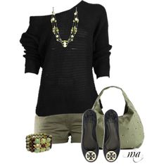 Untitled #388, created by missyalexandra on Polyvore I'd do a lightweight slouchy top instead.