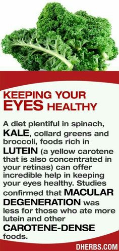 Greens for healthy eyes