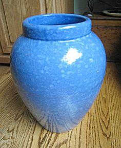 Vintage Ransbottom floor vase. aka oil jar. Victoria Glaze. c:1939. For sale at More Than McCoy at www.morethanmccoy.com