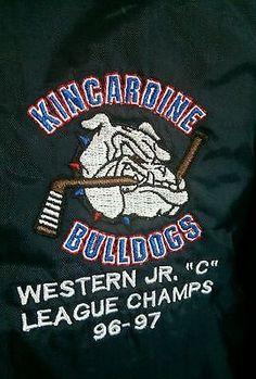 Team worn Kincardine Bulldogs Midwestern Jr C OHA  RARE Championship jacket