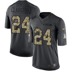 #NikeCowboys #24 #Morris #Claiborne Black Youth Stitched NFL Limited 2016 Salute to Service Jersey