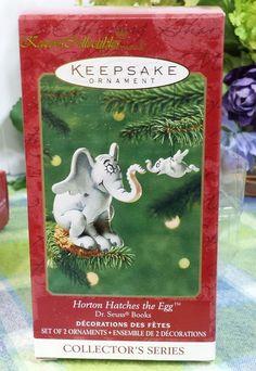 Hallmark 2001 Dr. Seuss Books #3 Horton Hatches the Egg ornament