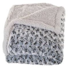 Yorkshire Home Plush Flower Fleece Sherpa Backed Throw : Target