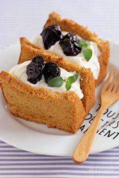 「プルーンシフォンケーキ」marimo | お菓子・パンのレシピや作り方【corecle*コレクル】