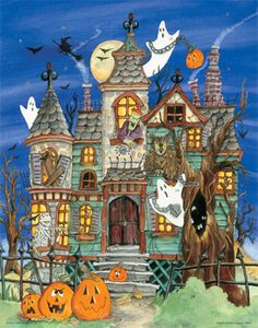 Haunted House Countdown Calendar | Halloween | Vermont Christmas Co. VT Holiday Gift Shop