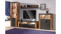 Living room pieces) from €. FSC®-certified wood-based material, decorative frame look, eas Home Room Design, Living Room Designs, Bedroom Designs, Backdrop Tv, Tv Wall Cabinets, Hickory Cabinets, Tv Cabinet Design, Hall Room, Muebles Living