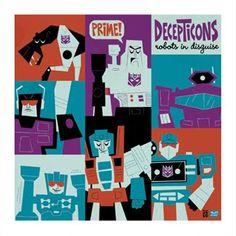 Retro illustration ... Transformers ... Decepticons!