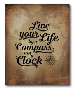 Loving this Follow The Compass Of Life Wrapped Canvas on #zulily! #zulilyfinds