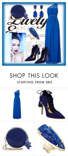 """""""Untitled #108"""" by aazraa ❤ liked on Polyvore featuring Adrianna Papell, Schutz, Kendra Scott and Kenneth Jay Lane"""