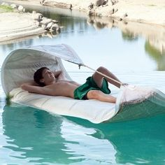 Vaurien Lounger by Dvelas - made from old sails