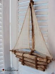 pendular boat - Homemade face masks mask how to make one Driftwood Projects, Driftwood Art, Diy Projects, Beach Crafts, Diy And Crafts, Seashell Crafts, Deco Marine, Homemade Face Masks, Repurposed