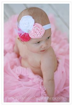 Vintage headband Rosette Headband flower girl by BambaroosBoutique, $28.50