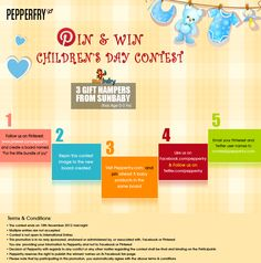 'Pin and Win Children's Day' Contest!    3 lucky winners get gift hampers from Sunbaby !