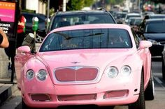 pink bentley. oh yeah baby!!! Most excellent gift to me from you!!!!  Pweeease????