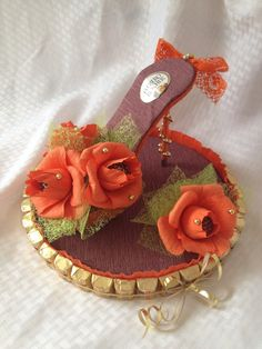 Ferrero Rocher Chocolate Candy Shoe Flowers by TooSweetToMiss
