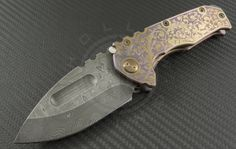Medford Knife & Tool Custom Other Praetorian S/E Folder (3.75in Damascus Plain ) MKT-BS15-Prae