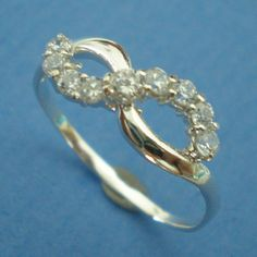 Elegant Knot Infinity Symbol Silver Ring with Created by yhtanaff, $25.00