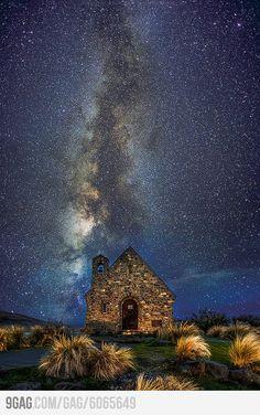 The Milky Way, Canterbury, New Zealand #landscape #travel