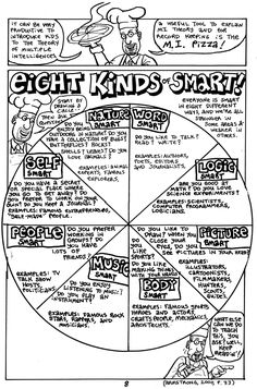 eight kinds of smart/multiple intelligences theories. Howard Gardner and Thomas Armstrong Multiple Intelligences Activities, Gardner Multiple Intelligences, Teaching Strategies, Teaching Tools, Types Of Learners, Gifted Education, Higher Education, Critical Thinking Skills, Science