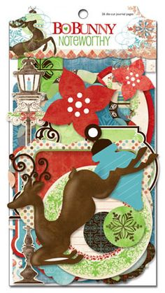 Bo Bunny - Blitzen Collection - Christmas - Note Worthy Journaling Cards at Scrapbook.com $3.99