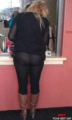 Nice hair. black nylon, tight