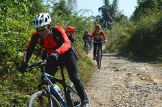 Mountain biking a the countryside trails in Guilin