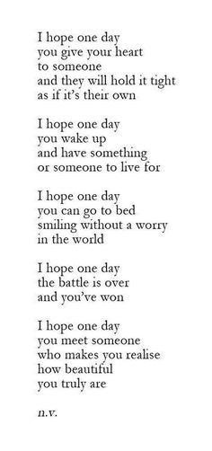 I really hope...