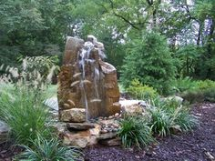 Outdoor Rock Garden - Boulder Water Fountains for Sale Rock Fountain, Waterfall Fountain, Rock Waterfall, Fountain Ideas, Fountain Design, Stone Fountains, Garden Fountains, Water Fountains, Fountains For Sale
