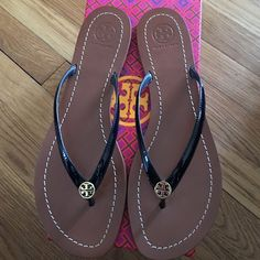 Tory Burch Tory Burch Terra thing never used. Color bright navy. Tory Burch Shoes Sandals