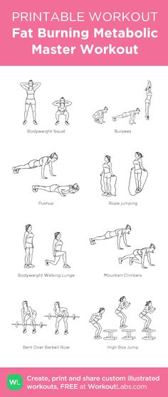Fat Burning Metabolic Master Workout:my custom printable workout by @WorkoutLabs #workoutlabs #customworkout