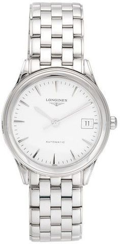 Longines Flagship L4.774.4.12.6 Automatic White Dial 35.4mm Mens Watch
