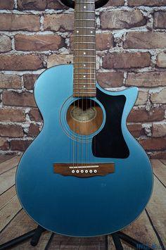Vintage Guild S4BG Blue Barry Gibb Songbird Acoustic Electric Guitar w/OHSC | eBay