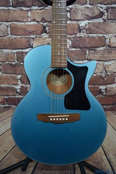 Vintage Guild S4BG Blue Barry Gibb Songbird Acoustic Electric Guitar w/OHSC | eBay