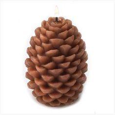 Pine Cone Shape Pillar Candle.