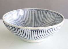 Bowl / Salad Bowl blue white Japanese-Style by TokyoLifeDesign