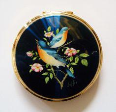 Vintage Birds Stratton Compact
