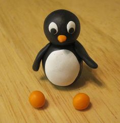 How to make a penguin with clay.  This is great for beginners!