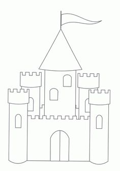 Castle drawing template basic castle cinderellas castle princess free printable castle coloring pages for kids pronofoot35fo Images
