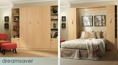 Stylish and affordable. This Murphy bed turns any room into a space savvy guest room.