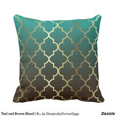 44 + Top Teal Living Room Ideas Brown And Secrets 54 Brown And Gold Living Room, Teal Living Rooms, Living Room Themes, My Living Room, Living Room Designs, Ramadan Decoration, Moroccan Decor Living Room, Teal Pillows, Brown Throw Pillows