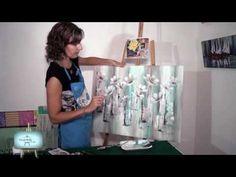 Cuadro en tecnicas mixtas nos enseña Gaby!!! - YouTube