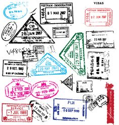 Free passport stamps vector by Robot on VectorStock® Passport Template, Passport Stamps, Pacific Map, South Pacific, Travel Stamp, Free Coupons, Vintage Labels, Travelers Notebook, Digital Scrapbooking