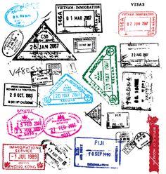 Free passport stamps vector by Robot on VectorStock®