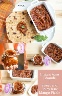 Instant Aam Ka Chunda | Sweet and Spicy Raw Mango Pickle