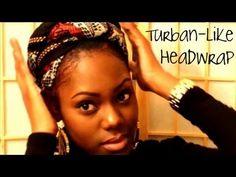 Quick & Easy Turban-like Headwrap Tutorial   GodCallsMeBeloved