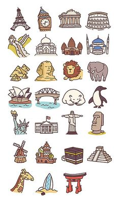 Travel Icons Pt2 By Anneka Tran Via Flickr