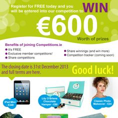 Join us for free today and you could win over €600 worth of prizes including an iPad Mini!