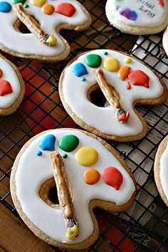 kekse für den künstler, nette idee.