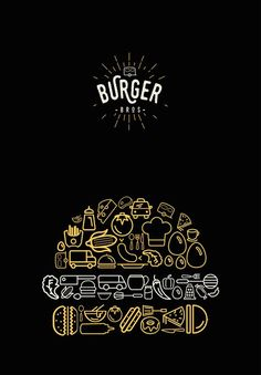 Burger Bros food truck are touring the UK and need a new look for their logo and identity. They would like a strong and simple brand that reflects their homemade American burgers and fries! Create a brand style tile to showcase a new logo and accompanyi Menu Burger, Burger Branding, Food Branding, Logo Food, Branding Design, Burger Packaging, Fast Food Logos, Logo Restaurant, Restaurant Design