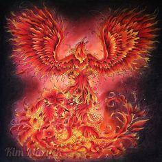 Mythomorphia的第八畫:Phoenix #fabercastellpolychromos #carandachemuseum #prismacolor #adultcoloringbook #coloringbookforadults #mythomorphia #kerbyrosanes #mythology #phoenix #mythology